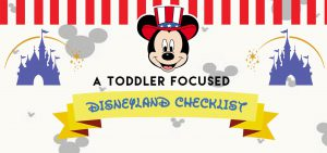 toddler itinerary for disneyland