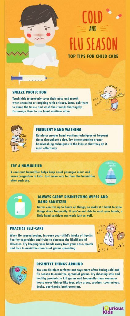 Tips for avoiding cold and flu for kids